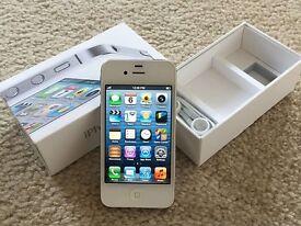 iPhone 4 White. 16GB. Boxed. Mint like New
