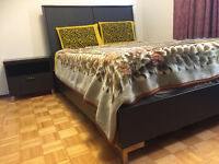 Bed set-queen bed, night stand, dresser, mirror & Chester $1100