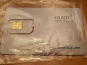 ROAM MOBILITY New SIM CARD for use in US ( cheap roaming rates )