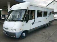 Hymer 700E Motorhome Camper 6 Berth Long Tri Axel LHD Full MOT 2.5L Low Mileage