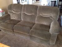FREE La-z-boy brand reclining couch and love seat