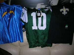 NFL Football Team Jersey Jets ,Chargers ,Saints, New With Tags