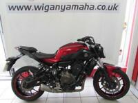 YAMAHA MT-07 35kW A2 LICENCE RESTRICTED, 16 REG 8146 MILES, COMFORT SEATS...