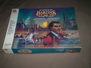 """POWER BARONS"" 1986 BOARD-GAME by MB 100% COMPLETE GREAT SHAPE"