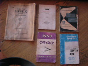 Old Car Manuals, Essex, Ford, Jeep, Chrysler etc