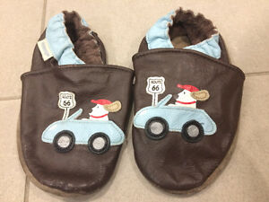 Route 66 Brown and Blue Baby Robeez - Size 18-24 Months