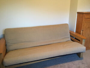 Futon Frame, Mattress & Cover - Excellent condition