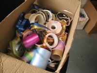 LARGE BOX OF ASSORTED RIBBON -- GREAT FOR PARCELS AT CHRISTMAS