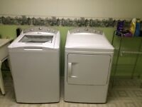 WHITE GE PROFILE WASHER AND DRYER