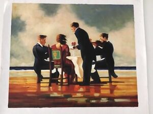 Elegy for a Dead Admiral By Jack Vettriano (oil painting) . Mornington Clarence Area Preview