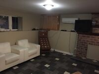 2 Bedroom Basement apartment for rent, everything included.