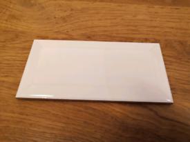 WHITE METRO TILES - 7.5X15CM - 106 PCS