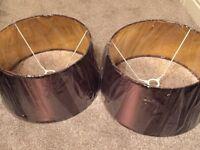 2 New Homesense Lamp shades approx 30 cm