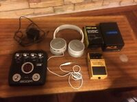 Guitar pedals zoom g2, boss acoustic simulator
