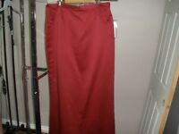 PLUS SIZE LONG SKIRTS, RED OR PINK