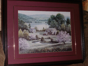 Large Picture - Double matted , Trimmed, Burgandy Frame