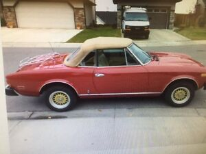 GORGEOUS!  1979 FIAT 124 SPYDER 2000 - AUTOMATIC!   PRIVATE SALE