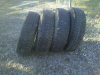 4- LT 215/85/16 M&S tires and rims