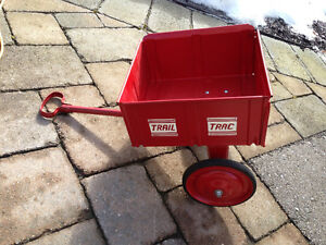 VINTAGE CHILD TRAIL TRAC RED STEEL WAGON/TRAILER