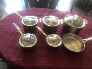 9 piece pampered chef stainless steel cookware