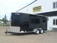 """Canadian Made """"Rainbow"""" Aerodynamic V-nose Enclosed Trailers Red Deer Alberta Preview"""