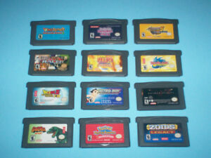 NINTENDO GAMEBOY & GBA GAMES + SP CONSOLE FOR SALE