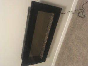 Mounted wall electric fireplace