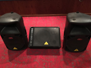 Behringer Powered Speakers and Monitor Package.