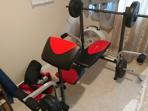 Elliptical and Weight bench with 80 pounds $250 combo Kitchener / Waterloo Kitchener Area image 4