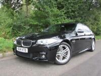 2014 14 BMW 5 SERIES 2.0 520D M SPORT 4D AUTO 181 BHP DIESEL BLACK 4 DOOR SALOON