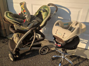 Baby Stroller System-Eating Seat-Swing-Playpen