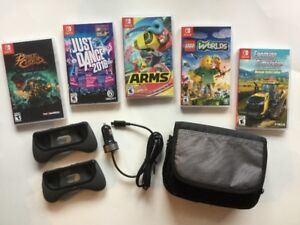 Switch: Arms, Just Dance, Farming, Lego Worlds..