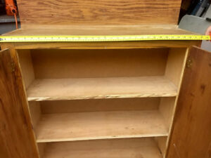 Heavy Duty plywood wall cabinet with shelves