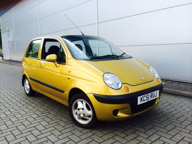 2002 51 reg Daewoo Matiz 0.8 SE+ EZ+ 5 door yellow/ GOLD + 1 owner