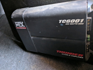 Subwoofer box and amplifier