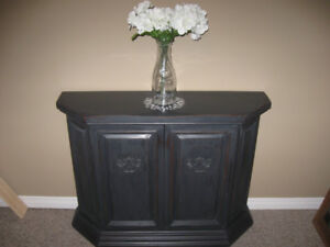 Rustic Charcoal Wooden Cabinet