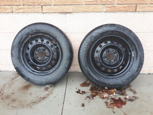 Two Tires 195/65R15 - Rims Included