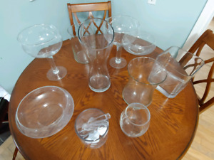 Candy buffet dishes/vases