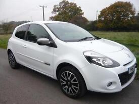 Renault Clio 1.5dCi ( 88bhp diesel) 2012/62 ,GT Line ,TomTom [sat nav],White,