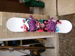 Firefly 130cm Snowboard/Boots/Helmet/Goggles, for girls