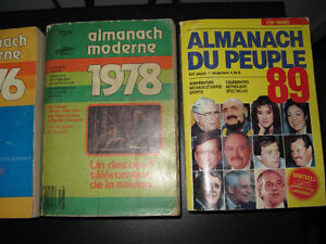 LOT DE 3 ALMAMACH MODERNE 78-76.