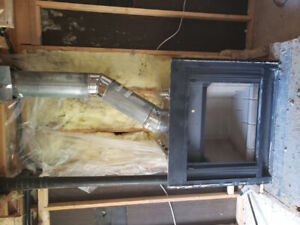 Wood burning fire place never used