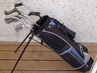 Junior right hand golf clubs with bag