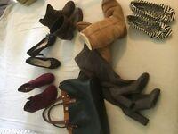 Job lot ladies size 5 shoes including ugg boots and handbag