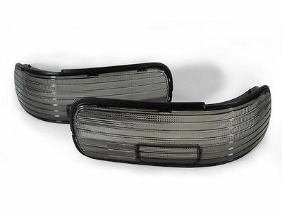DEPO Smoke Rear Tail Light Cover Frames For 1991-1996 Chevy Impala & Caprice (Smoke Tail Light Covers)