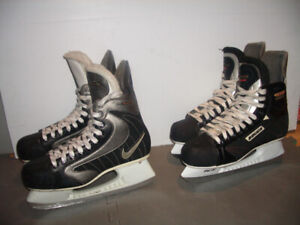 "Patins ' NIKE "" "" BAUER "" "" CCM "" -- sizes 10 US  and  11 US men"
