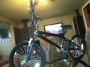 """20"""" All black trick bike with gyro and trick  pegs"""