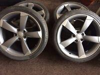 "Brand New Audi Genuine Rotor Alloy Wheels 19"""