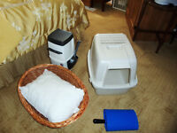 A litter locker and a basket for $25.00.