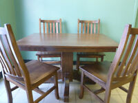 SELLING: Brand new, handcrafted, solid red oak dining set